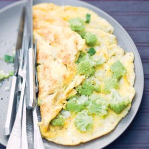 omelette au chou romanesco