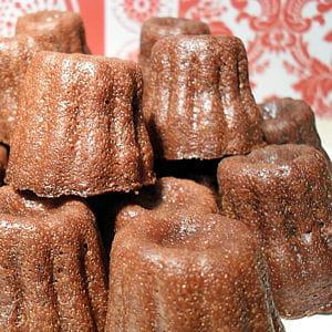 mini-canelés au chocolat noir
