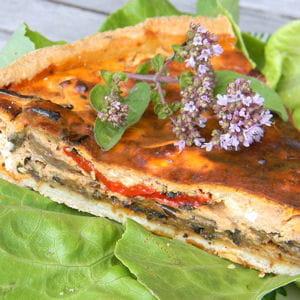 tarte estivale aux légumes grillés
