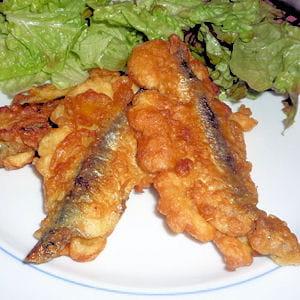sardinhas com capa (sardines panées)