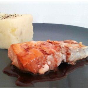 saumon sauce au raisin