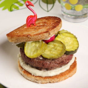 hamburger de courgettes au gorgonzola