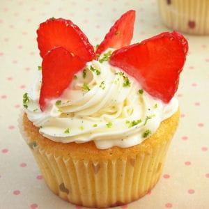 cupcakes au citron vert et à la fraise
