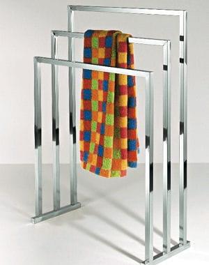 un porte serviettes design 10 accessoires de salle de bains journal des femmes. Black Bedroom Furniture Sets. Home Design Ideas