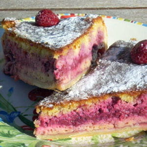 bakewell pudding aux framboises