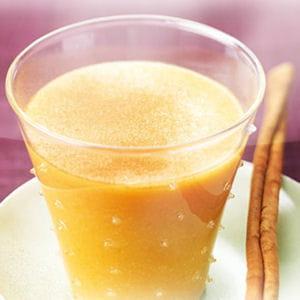 cocktail abricot-coco, sorbet abricot