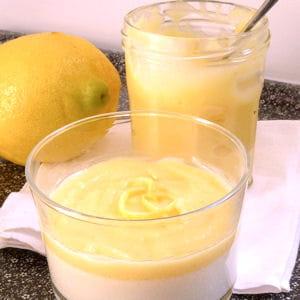 petites crèmes citron-romarin, nappage façon lemon curd