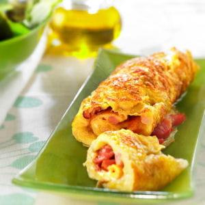 l'omelette au jambon ou au lard