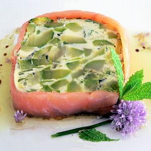 terrine de courgettes au saumon fumé