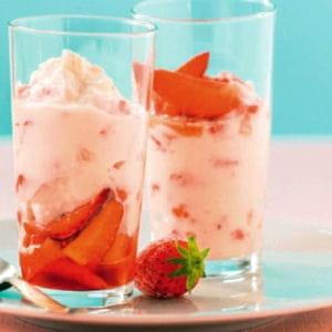 verrine fraises et faisselle