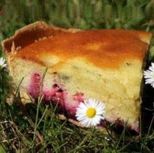 tarte façon muffins aux myrtilles et aux framboises
