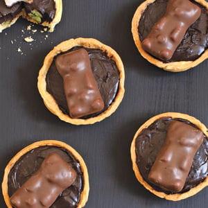 tartes choco-kiwi & petits oursons guimauve