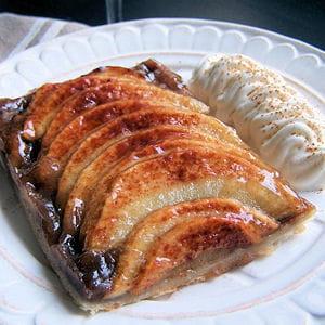 tarte fine pommes cannelle et crème de marrons
