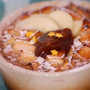clafoutis aux pommes et crème de marrons