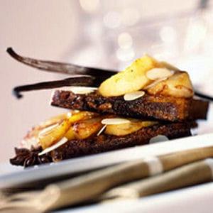 croque poires et caramel au beurre salé