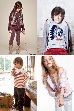 des looks d'enfants pour cet automne-hiver. 