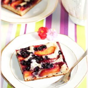 gâteau nectarines myrtilles