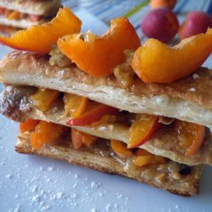 millefeuille abricot & frangipane praliné