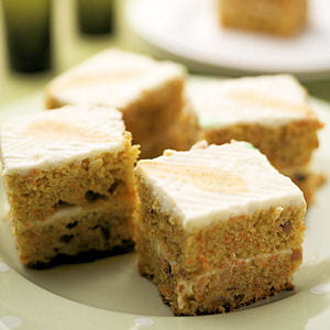 carrot cake avec glaçage au kiri ®
