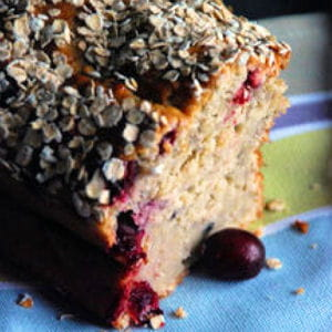 cake façon porridge aux bananes et cranberries