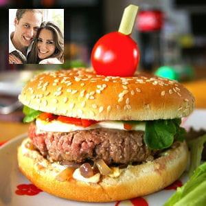 recette préférée prince william : hamburger