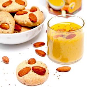 soupe froide de poivron doux & epices alvalle et petits pains aux épices d'arcos