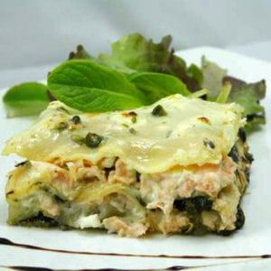 lasagnes saumon-épinards