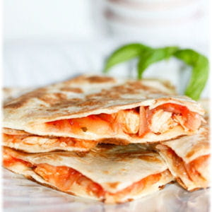 quesadillas poulet tomate fromage