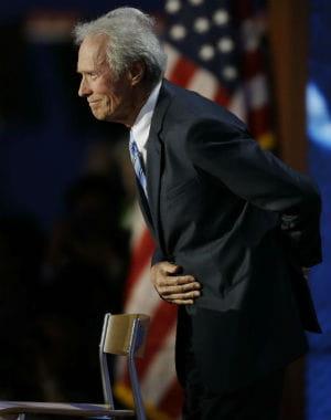 clint eastwood à la convention républicaine, le 30 août 2012, à tampa.