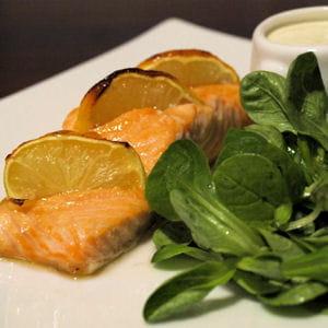 filet de saumon au citron et à l'érable