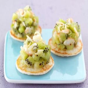 tartare de kiwi et crevettes à la citronnelle
