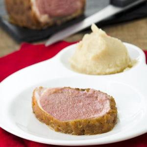agneau en croûte de pain d'épices
