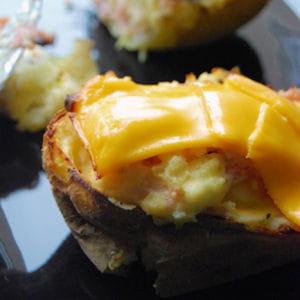 twice baked potatoes au bacon