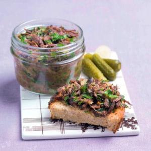 rillette de queue de boeuf aux herbes et épices douces