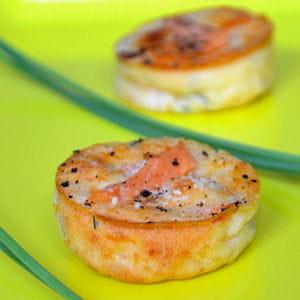 petites bouchées apéritives au saumon