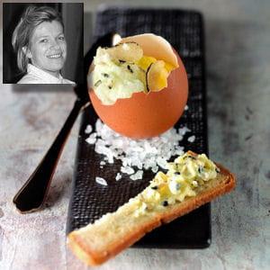 œuf coque, émulsion de beurre noir de richerenches de flora mikula