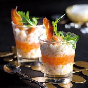 tartare de saint-jacques aux œufs de saumon