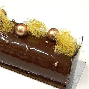 bûche roulée chocolat-caramel