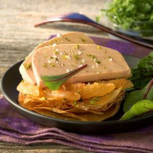 foie gras de canard fermier des landes en tarte fine