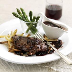 steak de gigot d'agneau au poivre