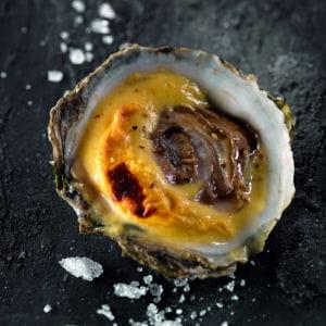 huîtres belons et sabayon au champagne