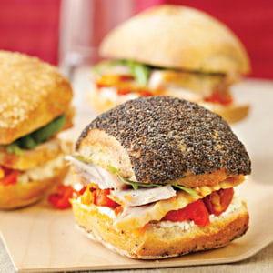 minis sandwichs de cuisses de dinde