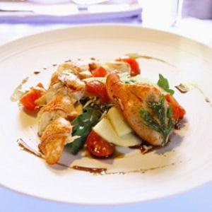 salade de langoustines, pommes et céleri