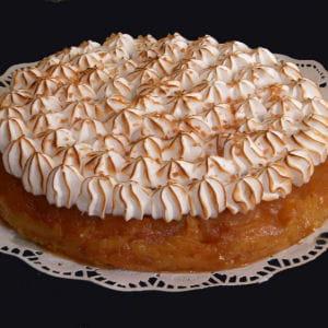 tarte tatin meringuée au caramel au beurre salé