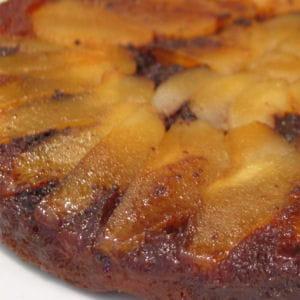 gâteau renversé poires-chocolat