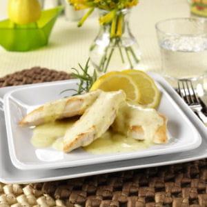 poulet à la sauce kiri et moutarde