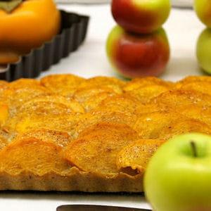 tarte frangipane aux agrumes et fuyus