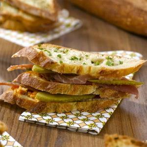 sandwich jambon-beurre façon millefeuille