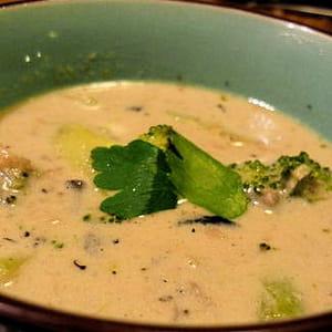 soupe thaï green curry de lieu noir
