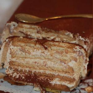 gâteau aux biscuits thé brun de lu